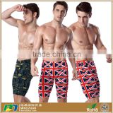 Trendy Pattern Printed Spandex Nylon Beach Swim Jammer Mens Bathing Suits