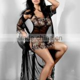 Hot Sexy Plus Size M-4XL Women Vestidos 2016 Summer New Sexy Lace Black Nightdress Novelty Bandage Nightgown