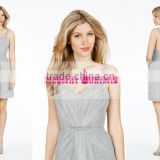 Simple Backless Short Sash Bridesmaid Dress Maid Of Honor Dress ZY557