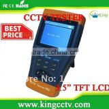 "3.5"" TFT LCD cctv tester HK-TM803 Lithium Ion Polymer Battery 12 hours working time DC12V1A ouput for camera Audio testing"