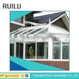 Aluminum Alloy Frame Material and Tempered Glass Roof Material Garden Conservatory sun room