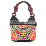 Fashion canvas embroidery handbag silk yarn embroidered handbags /tote bag for lady brand New Arrival