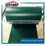 RAL 6005 green PVC strip tarpaulin screen fence privacy garden fence/pvc tarpaulin strip screen fence