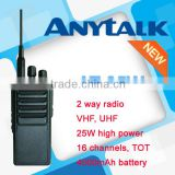 Powerful handheld radio AT-25W VHF UHF 2 way radio