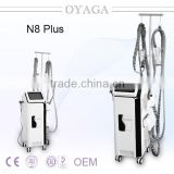N8 plus Infrared facial massager cellulite roller massage beauty machine with magnetic hand massage roller