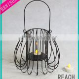 Metal Basket Type Candle Holder Hanging On the Wall Lighting For Party Home Decoration