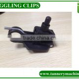 auto nylon toggling machine clips for leather toggling