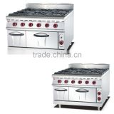 Restaurant Kitchen Cooking Ranges With Oven or Cabinet, 6 Burner Gas Range(ZQW-889)