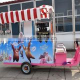 Big windows fast mobile snack food trailer for sale with CE