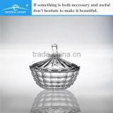 round glass candy jar with glass lid; mini candy jar for table centerpieces crystal candy jar