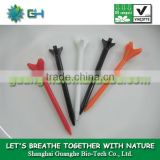 100%compostable eco-friendly non-pollution plastic wholesale PLA golf tee