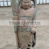Hand carved wooden buddha statue for garden decoration