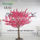 SJZJN 307 Mini Fake Pink Peach Tree for Home Decoration /Mini Bonsai Pink Peach Tree