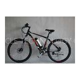 Brushless Electric Motor Mountain Bike Black Full Suspension Electric Mountain Bike