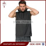 Drawstring Moisture-wicking Dry Fit Touch Fleece Sleeveless Hoodie