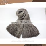 180*20cm women sexy knitted mink fur scarf neckerchief