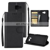 Solid Color Side Flip PU Wallet Case for Samsung Galaxy A7