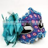 The newest lace diamond leather mask of Venice Lily masquerade mask