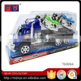 Truck toys with 2 pcs Motorcycle friction car toys
