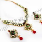 Real kundan jewellery set - indian imiation jewellery - Delicate indian jewelry - Fancy indian jewelry - Bollywood jewelry