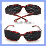 Leopard Frame Fashion Pinhole Glasses