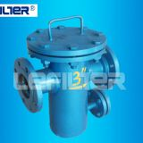 DN100 Basket strainer filter machine for water treatment used in steel plant, steam power plant