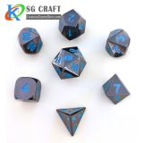 Custom Wholesale Bulk Aluminum 8 Sided 12 Sided Sets Casino Carved Polyhedral Metal Dice