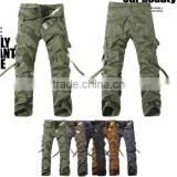 instyles sport army training cotton blending mid-rise men's cargo pants without belt                                                                         Quality Choice