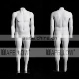GH15 Plus-size Men Ghost Mannequin White Male Model Headless Fat Man Removable the Assembly Magnetic Clasp Model for Display