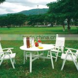 WHITE BISTRO SET - LUXURY STYLE - wooden garden furniture - hotel furniture