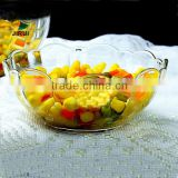 clear glass bowl & vegetables storage glass bowl & food storage clear glass bowl