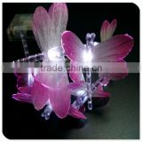 led fiber dragonfly battery powered christmas lights for christmas ornament, funny animal decoration