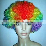 Rainbow Curly Afro Wig