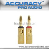 Pro Audio Gold Plated Banana Plug Connector BC001G