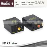 Digital Optical Coaxial Toslink Signal to Analog Audio Converter with 3.5mm Audio Converter Adapter