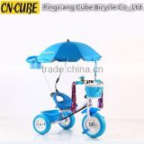baby tricycles with sun shade umbrella,hot sale baby kids tricycle with custom color