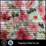 Wholesale Jacquard Striped Organza Printed Fabric with beautiful flower patterns for fashion garments,dress,skirt,wedding