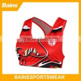 Spandex fabric sublimation sports bra,no design limited sports bra top,sports bra custom