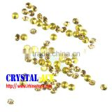Lt. C. Topaz foil back stones, Machine cut glass stones, pointed back crystal rhinestone