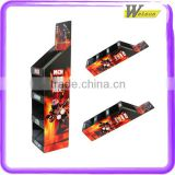 hot sale promotion and exhibition and chain store supermarket MP3 player cardboard display racks stands