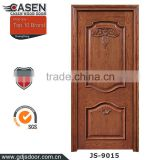 new class oak natural veneer hotel wooden door 2 panels carving wood doors polish