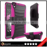For HTC Desire 816 Armor Case Series - Heavy Duty Dual Layer Holster Case Kick Stand with Locking Belt Swivel Clip