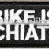 new designs custom for bike embroidery patches ,embroidery name patches