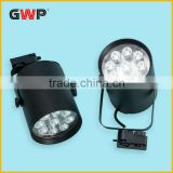 Black and white color 9W LED track light for clothes shops