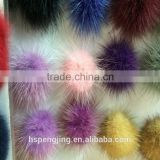 hand made genuine rabbit&racoon dog&mink fur ball &pompon for garment and keychain