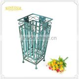 wrought iron blue umbrella stand holder home decoration