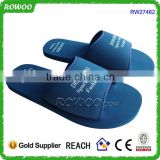 Cheap Blue Wholesale Textile Soft Hotel Slipper Custom EVA Lady Flip Flop With Customized Printing Logo