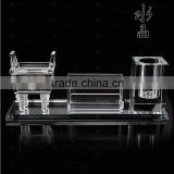 Wholesale Promotional Crystal Pen Holder with Crystal Card Holder for Business Partner Gift