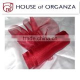 Floral Decoration Sheer Snow Organza Fabric Rolls