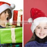 Wholesale Traditional Red and White Plush Christmas Santa Hat